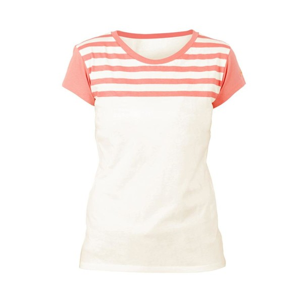 Laina T-Shirt Woman white/coral