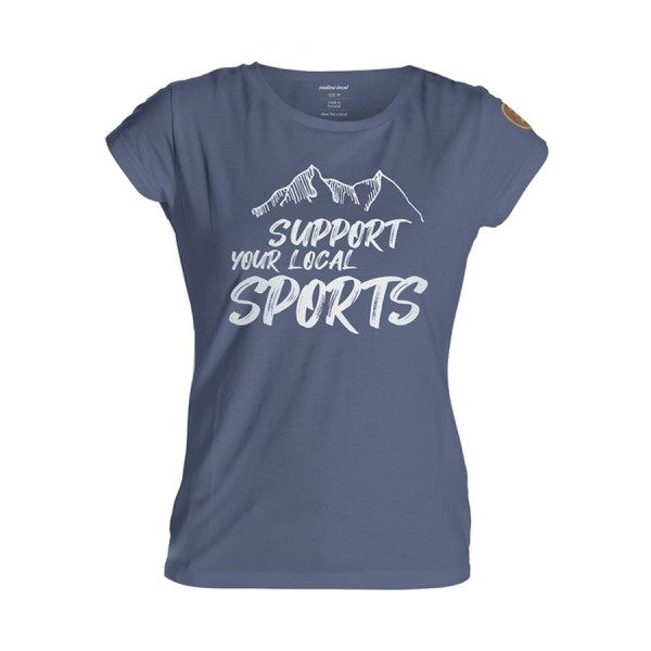 Support T-Shirt Woman navy/white